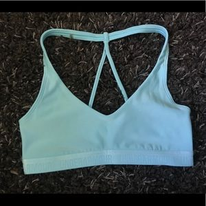Under Armour sports bra with strappy back